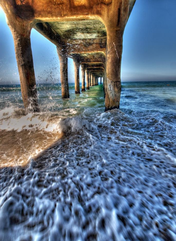 surreal pier